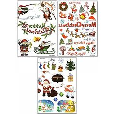 GGSELL 3pcs Merry Christmas fake temp tattoo stickers in 1 package,it including Santa Claus,sock,snowman,bell,ball,sled,wreath,gift,christmas tree,deer,etc. >>> Continue to the product at the image link. (This is an affiliate link and I receive a commission for the sales) #Makeup
