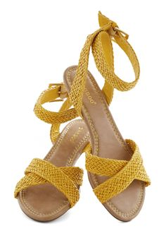 Weave Got the Beat Wedge, #ModCloth