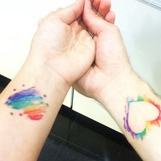 I love the whole watercolor tattoo trend & am intrigued by the negative space