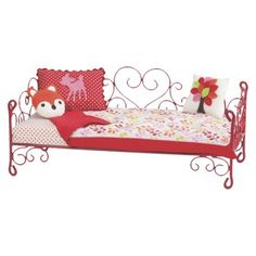 "Our Generation Heart Love Bird Scroll Bed, This is from Target & I think it's darling for a new piece. Fits the 18"" dolls."