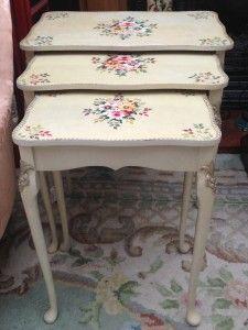 White nest of tables £49.50