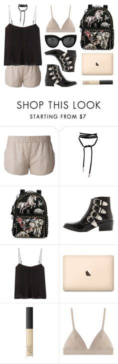 """""""Nude"""" by baludna ❤ liked on Polyvore featuring Drome, Valentino, Toga, T By Alexander Wang, NARS Cosmetics and Proenza Schouler"""