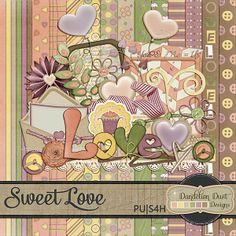 Digital Scrapbooking Sweet Love Kit By Dandelion Dust Designs #DandelionDustDesigns #DigitalScrapbooking