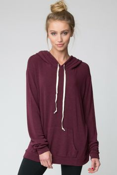 This is so comfy!!! Great with leggings! Brandy ♥ Melville | Layla Hoodie - Clothing