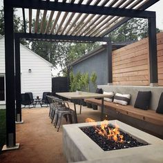 Are you looking for modern patio design ideas? If you do, then keep on reading! This article will give you recommended modern patio designs and patio paver design ideas which you can apply to your patio. For those who are not familiar, the patio is. Modern Patio Design, Small Backyard Design, Small Backyard Patio, Backyard Patio Designs, Backyard Landscaping, Patio Ideas, Contemporary Patio, Landscaping Ideas, Backyard Games