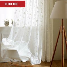 korean white embroidered voile curtains linen feeling white sheer curtains for living room kitchen bedroom tulle