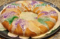 Crescent Roll King Cake - an easy and delicious way to make this traditional Louisiana dessert even better!