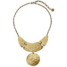 The Sak Linked Metal Bib Necklace 16 Necklace ($74) ❤ liked on Polyvore