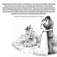 Harry Potter x Ginny Weasley Harry Potter Wedding, Harry Potter Quotes, Harry Potter Fan Art, Harry Potter Universal, Harry Potter Fandom, Harry Und Ginny, Harry And Hermione, Ginny Weasley, Fantastic Beasts And Where