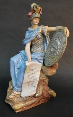 Fine Meissen German porcelain figure of Mars, 18th century.