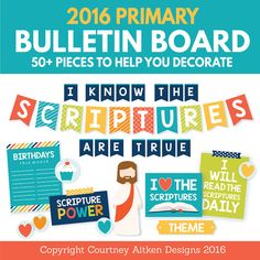 2016 LDS Primary Bulletin Board Printables! This is going to make my life SO much easier this year!