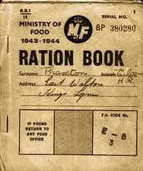 They used their ration books to get food during the war.