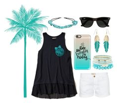 """""""Typical Summer Prep"""" by fashionfasionx2 ❤ liked on Polyvore featuring Current/Elliott, Hollister Co., Casetify, Charlotte Russe, Accessorize, Avenue and Ray-Ban"""