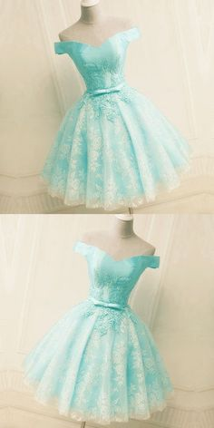 Green Off the Shoulder Appliques Short Homecoming Dress, Tulle Prom Dress, Shop plus-sized prom dresses for curvy figures and plus-size party dresses. Ball gowns for prom in plus sizes and short plus-sized prom dresses for High Low Prom Dresses, Cute Prom Dresses, Tulle Prom Dress, Lace Evening Dresses, Dance Dresses, Elegant Dresses, Sexy Dresses, Beautiful Dresses, Lace Dress