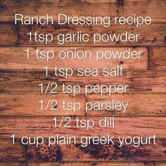 21 Day Fix approved ranch dressing #21DayFix