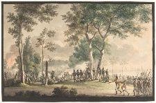 Livjægernes udfald i Classens have 31. august 1807 af Eckersberg