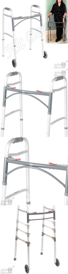 Walkers and Canes: Medical Walker Rolling Wheels Adjustable Walking Aid Folding Mobility Equipment -> BUY IT NOW ONLY: $40.82 on eBay!