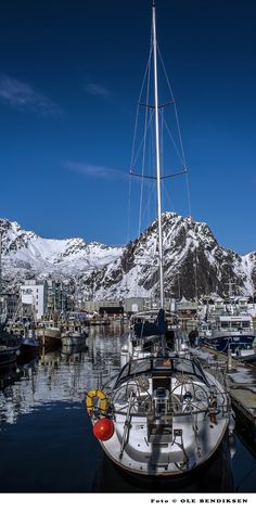 At the harbour in Svolvaer in winter Lofoten, Land Of Midnight Sun, Sailing Ships, Norway, Boat, Winter, Photography, Winter Time, Dinghy