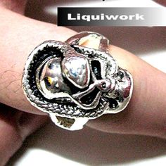 Punk Rock Fashion Skull Rings Bands Jewelry for Men Women SKU-71109022
