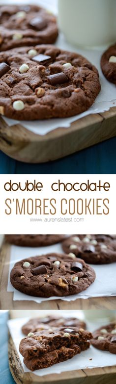 Sweet, soft, extra chocolatey, marshmallow and graham cracker packed S'mores Cookies will make you fall in love with desserts all over again! Delicious Cookie Recipes, Best Cookie Recipes, Yummy Cookies, Sweet Recipes, Baking Recipes, Dessert Recipes, Smores Cookies, Cookie Desserts, Just Desserts