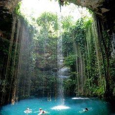 Yucatan, Mexico - 'Cenote ik kil'