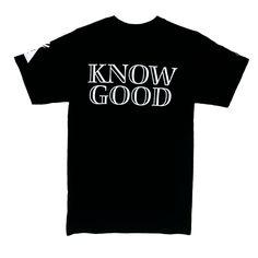 "UTKG ""Know Good"" Black Shirt - http://UpTwoKnowGood.com"