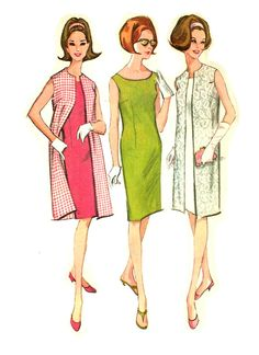 McCalls 7819 Misses Sleeveless Dart Fitted Dress and Coat Sewing Pattern by PeoplePackages