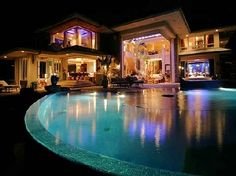 Hard Work!!! dream home design, tiger woods, bill gates, pool, dream homes, modern houses, dream houses, florida beaches, wood houses