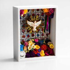 Relicário Divino Azulejos e Flores  | iBacana