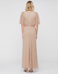 Tabitha Embellished Maxi Dress   Pink   UK 6 / US 2 / EU 34   7451131006   Monsoon Bridesmaid Dresses, Wedding Dresses, Geometric Fashion, Monsoon, Self, Bride Maid Dresses, Bride Gowns, Geometric Form