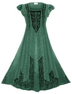 All Dresses - HolyClothing Elegant Dresses, Casual Dresses, Nice Dresses, Fashion Dresses, Celtic Dress, Chain Stitch Embroidery, Fairy Clothes, Renaissance Fashion, Renaissance Fair