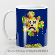 Error Meltdown Coffee Mug by artgaragefinland Pixel Design, Mug Designs, Art Market, Art Boards, Pop Art, Coffee Mugs, Invitations, Gift Ideas, Artwork