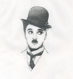 """Chaplin is """"For The Ages"""": Photo Pencil Drawing Images, Pencil Sketch Portrait, Abstract Pencil Drawings, Pencil Drawings Of Girls, Girl Drawing Sketches, Art Drawings For Kids, Art Drawings Sketches Simple, Realistic Drawings, Cute Drawings"""