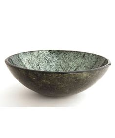 Fontaine Green Foil Glass Vessel Bathroom Sink   Overstock.com Shopping - Great Deals on Fontaine Bathroom Sinks  125.00