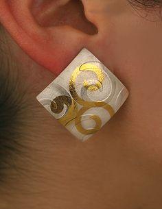 Christine Dhein swirlingwaves earrings keum boo