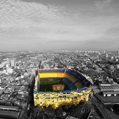 #BocaJuniors #Bombonera Stadium Architecture, Bernabeu, Football Wallpaper, Football Stadiums, South America, Melbourne, Around The Worlds, Skyline, Travel