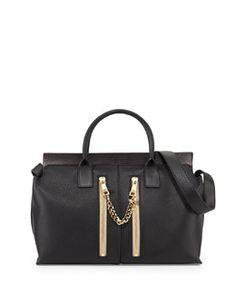 L0EDN Chloe Cate Medium Double-Zip Satchel Bag d74c2ff349e93