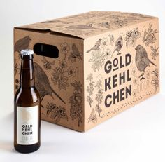 Goldkehlchen - love the one color, line drawing pattern that contrasts well with the logo