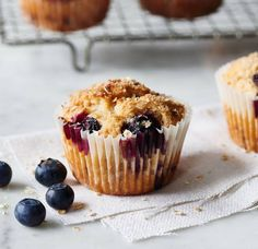 Blueberry oat muffins