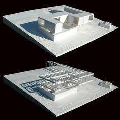 "architecture models House in ""La Vera"" by Mansilla + Tuñón Architects Concept Architecture, Architecture Details, Wood Architecture, Chinese Architecture, Contemporary Architecture, Model Auto, Structural Model, Casa Patio, Casas Containers"