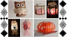 ◆◇ DIY Jar Lanterns | Autumn Style | Bohemian | Pumpkin and Owl Hallowee...