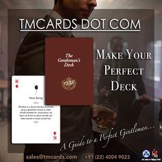 Make your own custom playing cards front and back with your own photos & messages with unique deck of cards design at TMCARDS. Uk Tourism, Promotion Marketing, Custom Playing Cards, Elegance Style, Gentlemans Club, Make Your Own, How To Make, Deck Of Cards, Real Man