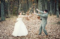 Adorable fall shot - Wedding Inspirations