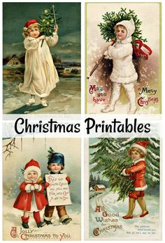 DIY Vintage Christmas Cards + 23 Free Printables - Town & Country Living Enjoy the art of card making this holiday season by creating your own DIY vintage Christmas cards with this collection of free printables. Vintage Christmas Crafts, Vintage Christmas Images, Victorian Christmas, Retro Christmas, Diy Christmas Ornaments, Christmas Art, Christmas Decorations, Free Christmas Card, Christmas Mantles