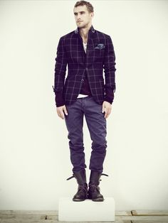 Grid Sport Coat + Boots. Follow http://pinterest.com/pmartinza for more Pinspiration!