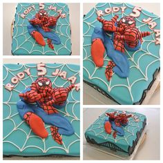 3D Spider Man Cake 10th Birthday Parties, Birthday Cakes, Man Birthday, Superhero Cake, Cake Spiderman, Cupcakes Decorados, Cute Cakes, Awesome Cakes, Character Cakes