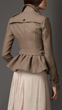 Mink grey Linen Trench Jacket - Image 2