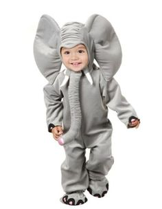 Little Elephant Baby Costume - There's nothing cuter than a baby elephant! Luckily yours will be small enough to cuddle with when they wear this Little Elephant Baby Costume complet Toddler Elephant Costume, Elephant Costumes, Animal Costumes, Toddler Halloween Costumes, Halloween Kostüm, Halloween Fancy Dress, Family Halloween, Baby Costumes, Children Costumes