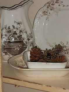 lovely brown transfer ware!