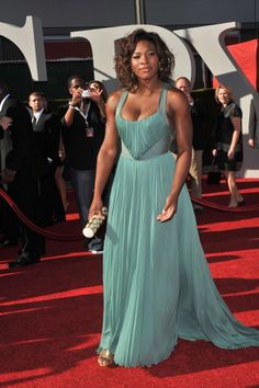 Serena Williams on the red carpet.